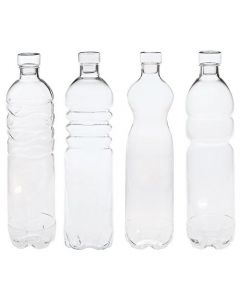 Borosilicate Large Glass Bottle Set