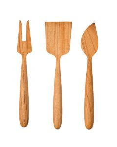Teak Full Wood Cheese Set