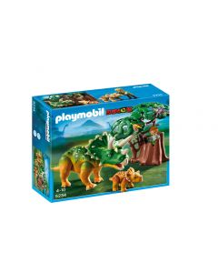 Playmobil Explorer and Triceratops Set