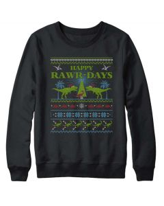 Happy Rawr-Days Holiday Sweater
