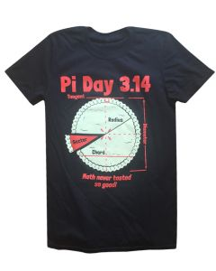 Adult Pi Day 3.14 Math Never Tasted So Good Tee