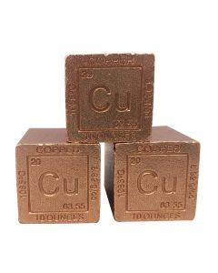 Cu Ten Ounce Copper Cube