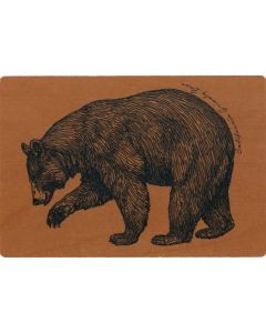 California Grizzly Bear Wood Postcard