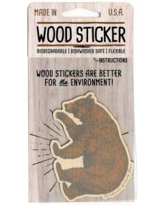 California Grizzly Bear Wood Sticker