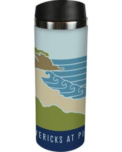 Inside Mavericks At Pillar Point Travel Mug