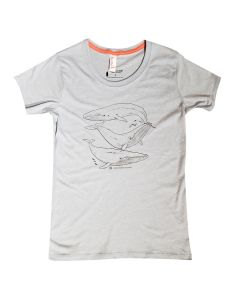 Ladies Academy Blue Whale T-Shirt
