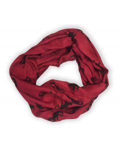 Burgundy and Black Dino Infinity Scarf