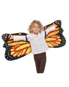 Plush Monarch Butterfly Wings Costume