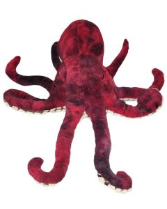 "15"" Plush Red Octopus"