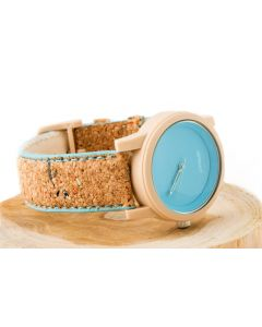 Blue Corn Resin Dial with Cork Strap